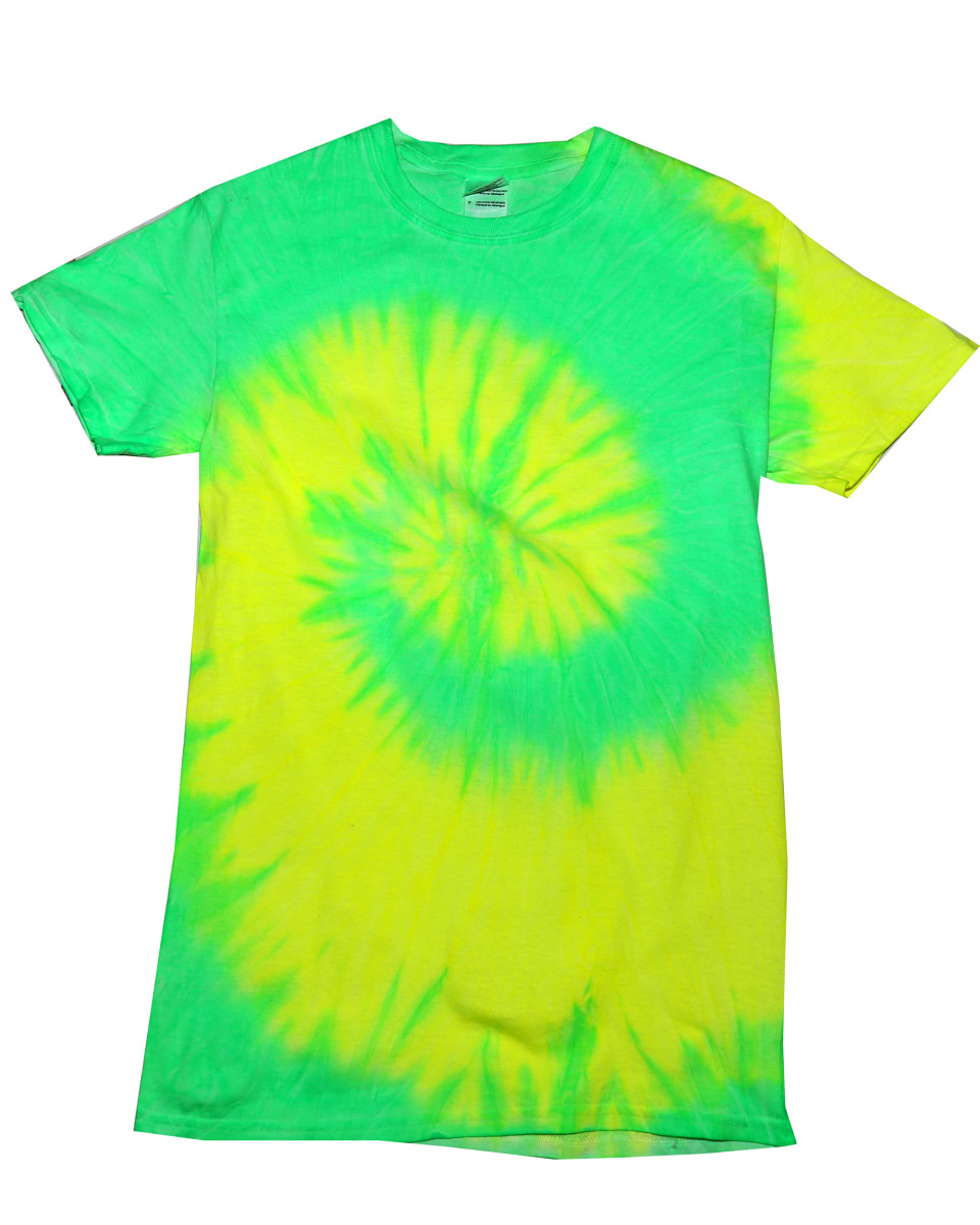 Colortone short sleeve rainbow tie dye t shirt the t for Cheap quick t shirt printing