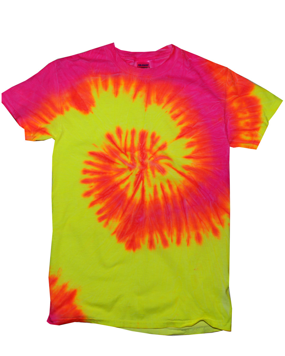 Colortone short sleeve rainbow tie dye t shirt the t for Tie dye t shirt printing