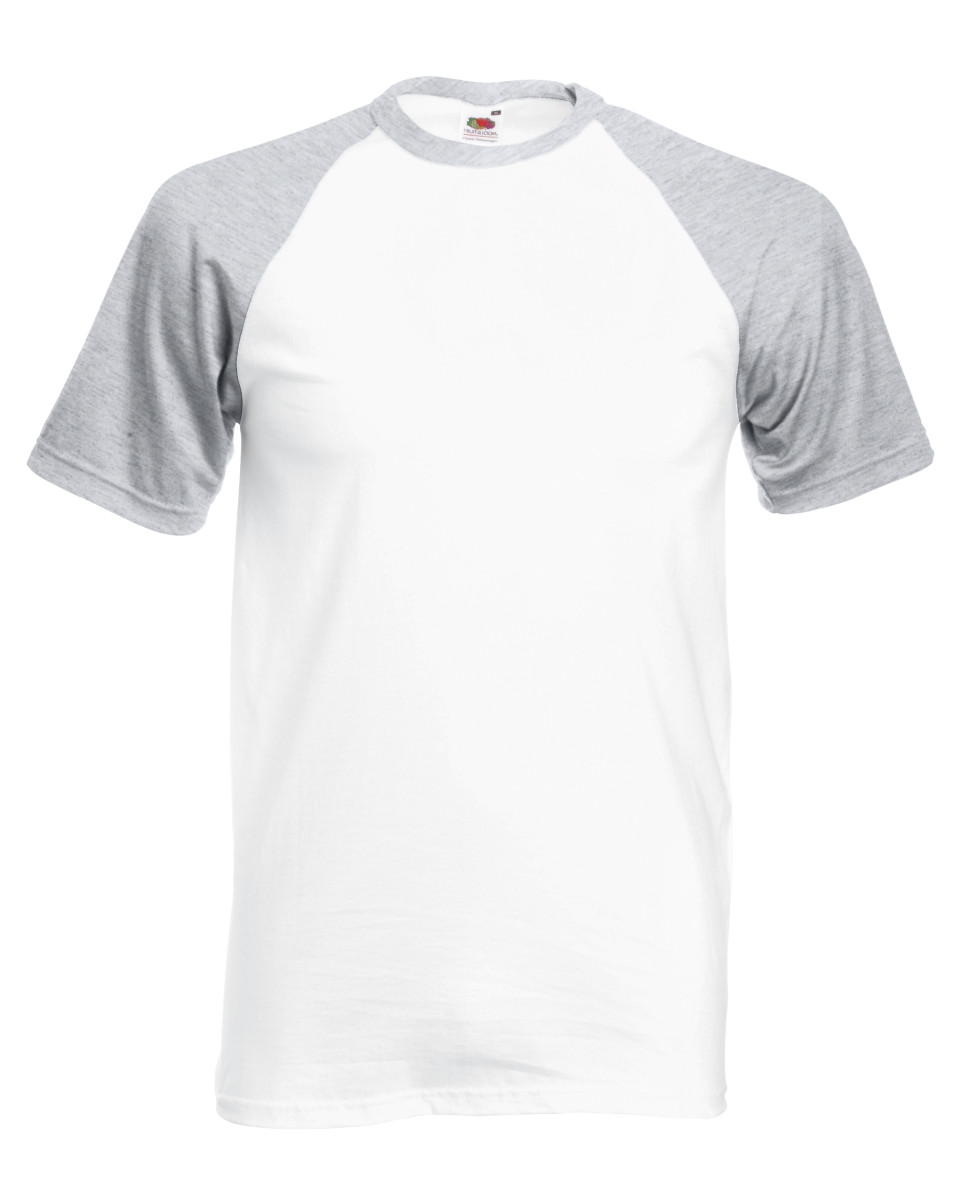 Fruit Of The Loom Men's Short Sleeve Baseball T-Shirt