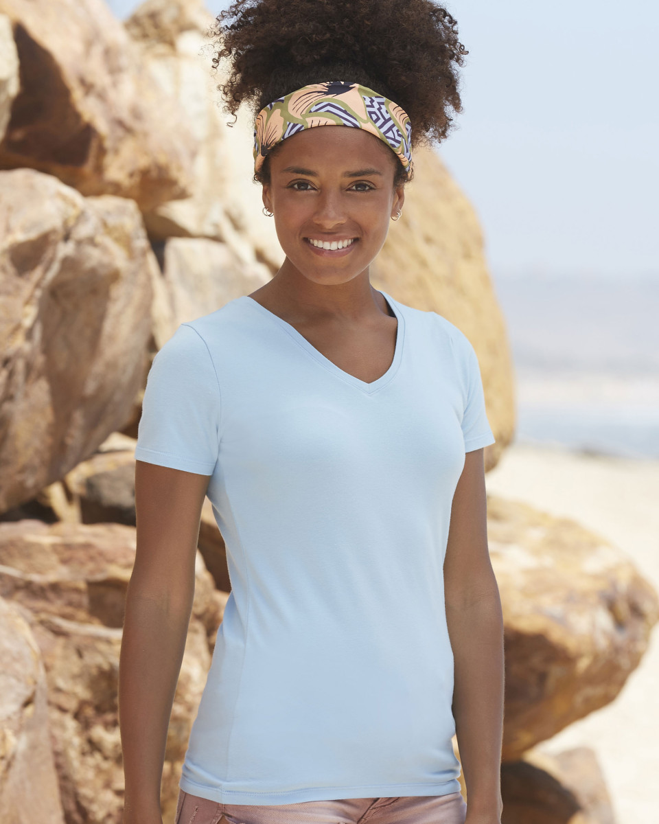 Fruit Of The Loom Lady-Fit V-Neck T-Shirt