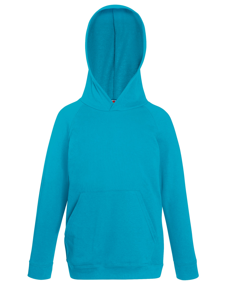 Fruit Of The Loom Children's Lightweight Hooded Raglan Sweat