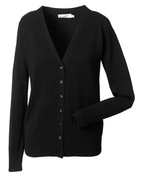 Russell Collection Ladies'  V-Neck Knitted Cardigan