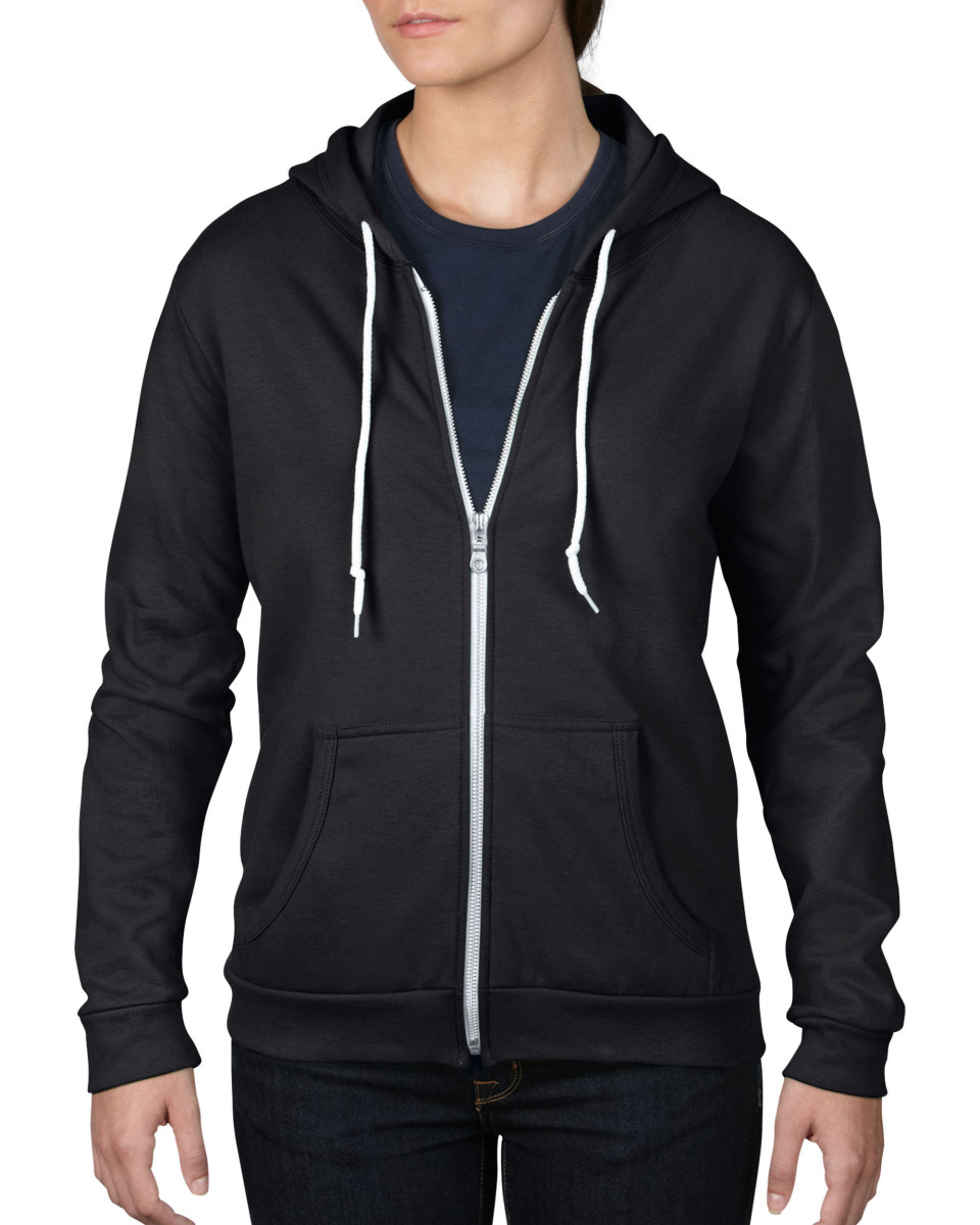 Anvil Women's Full Zip Hooded Sweatshirt