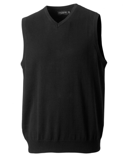Russell Collection V-Neck Sleeveless Knitted Pullover