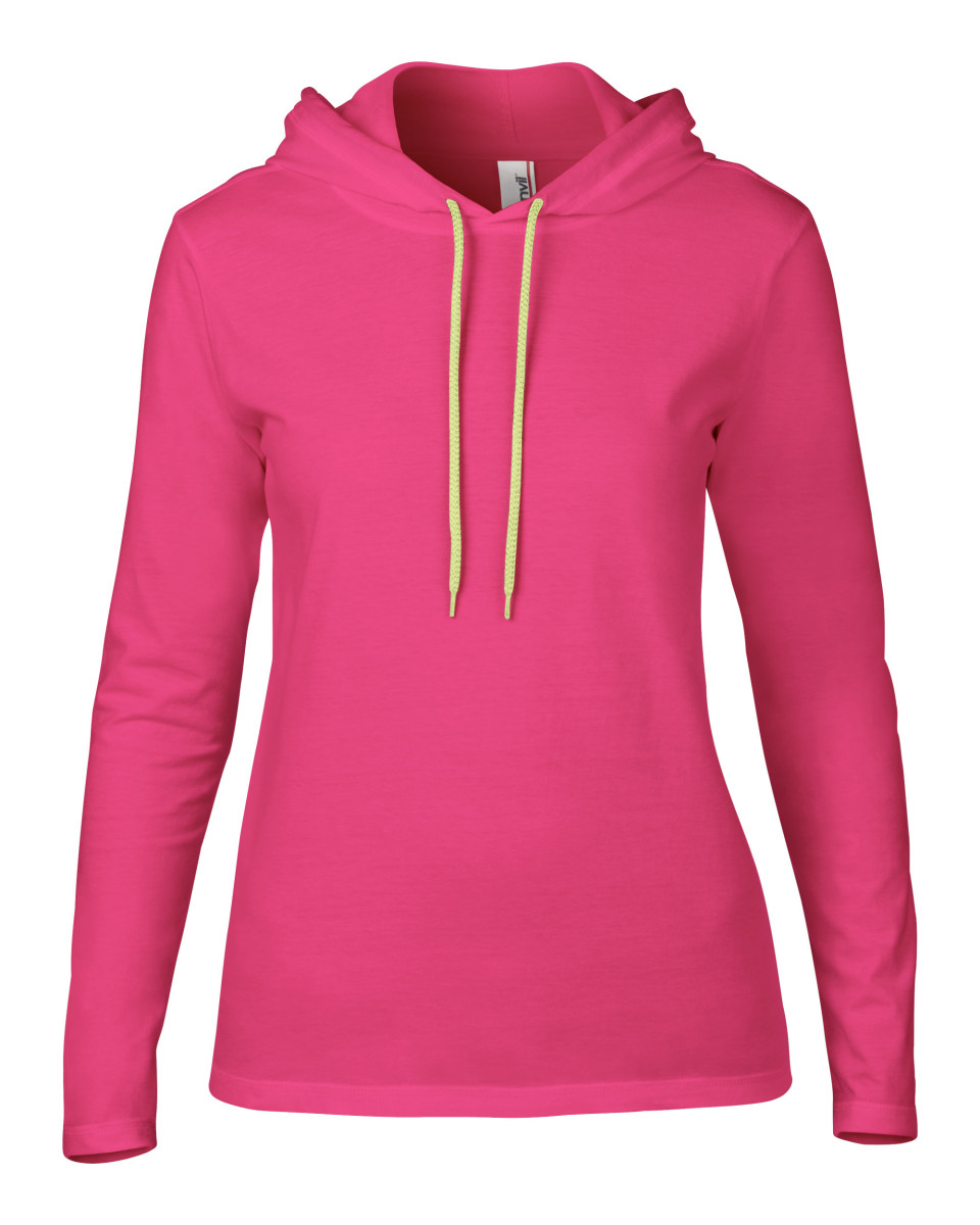 Anvil Women's Lightweight Long Sleeve Hooded Tee