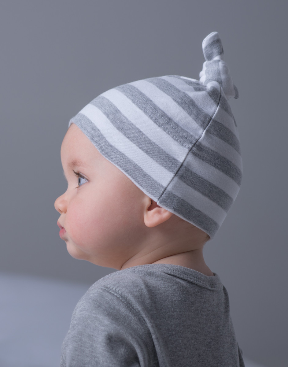 Babybugz Stripy One Knot Hat