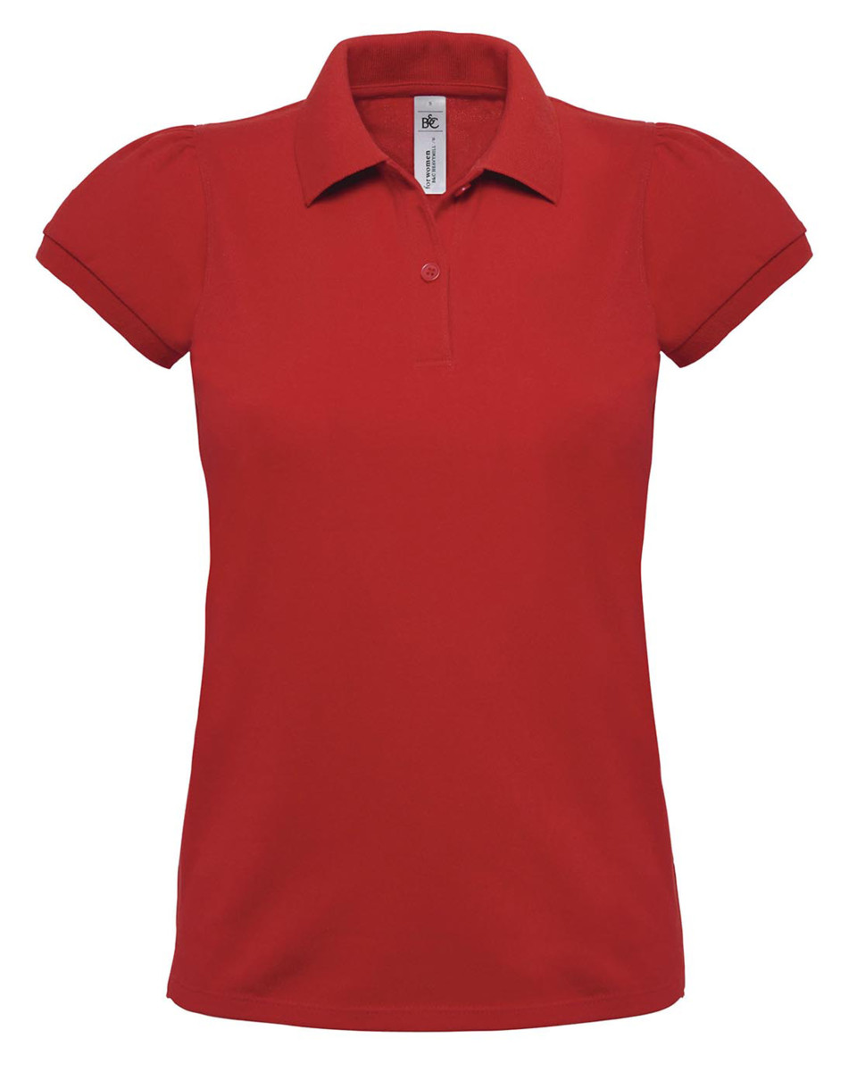 B and C Women's Heavymill Short Sleeved Fine Piqué Polo