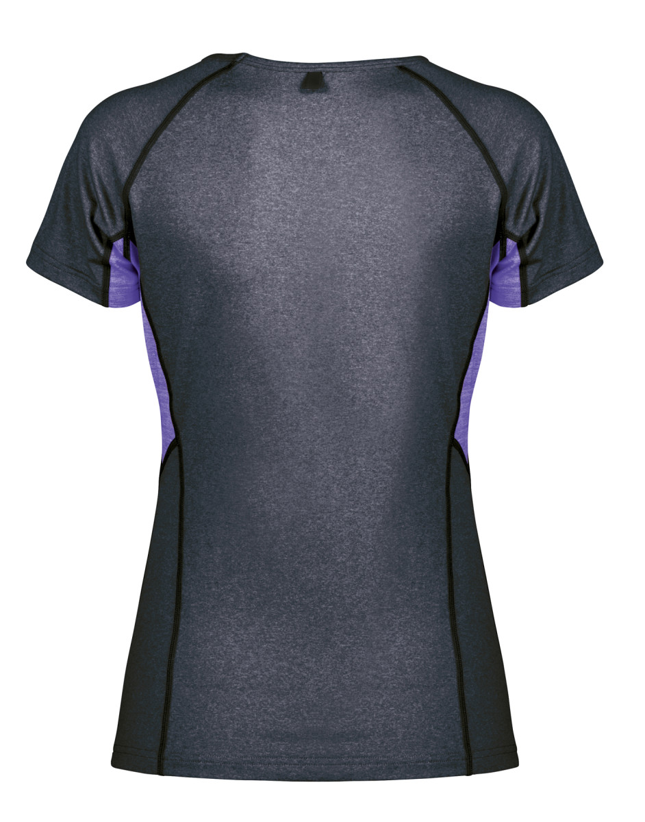 SPIRO FITNESS Women's Tech Panel Marl T-Shirt