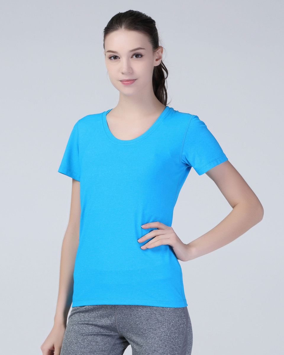 SPIRO FITNESS Women's Shiny Marl T-Shirt