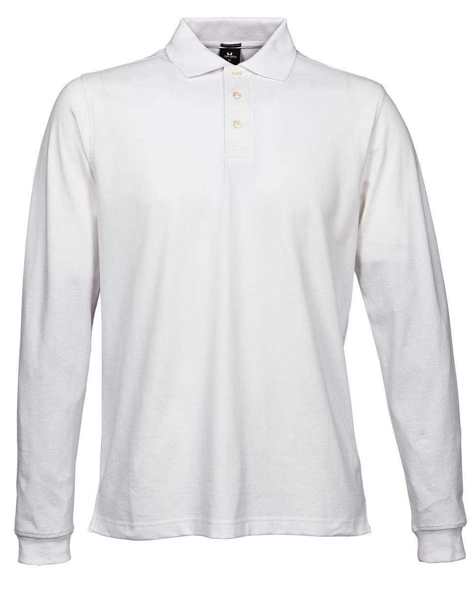 Tee Jays Men's Luxury Long Sleeve Stretch Polo