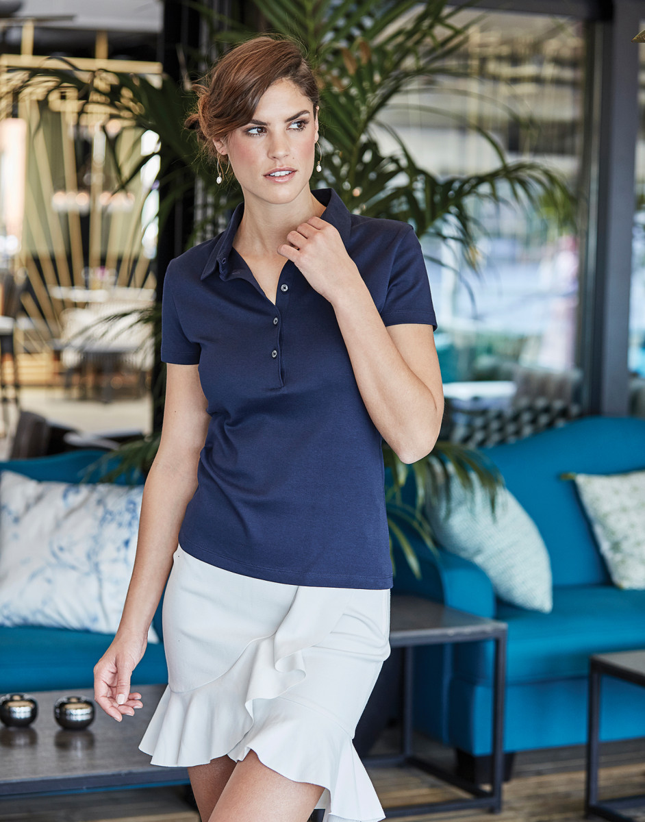 Tee Jays Ladies' Pima Cotton Polo
