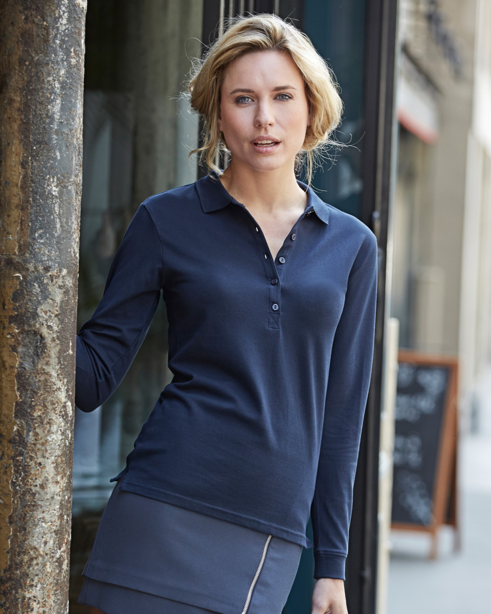 Tee Jays Ladies' Luxury Stretch Long Sleeve Polo