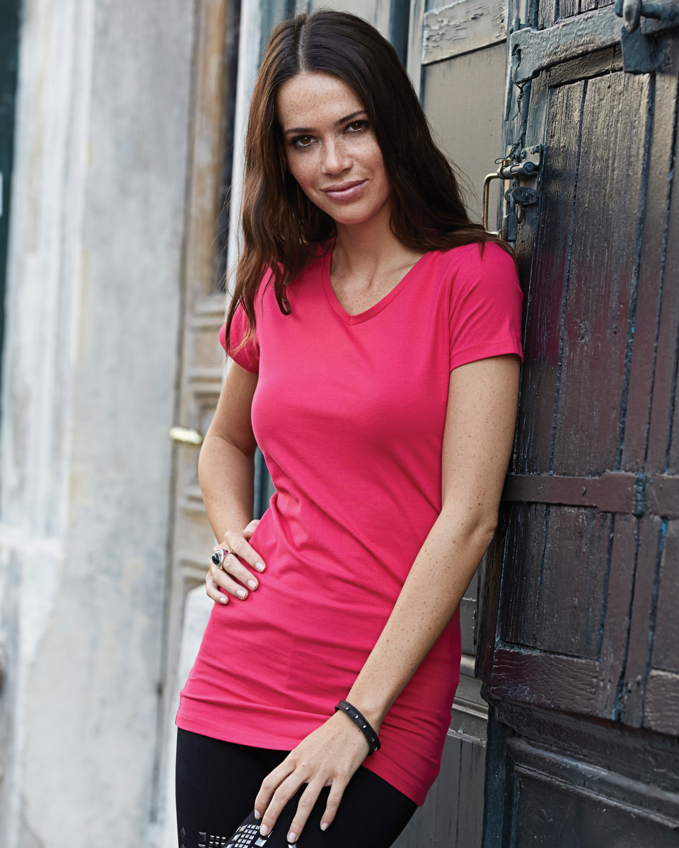 Tee Jays Ladies' Fashion Stretch Tee Extra Long