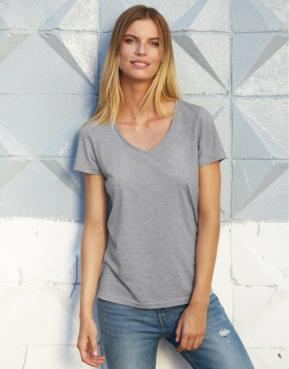 B and C Women's Favourite Triblend V-Neck Tee
