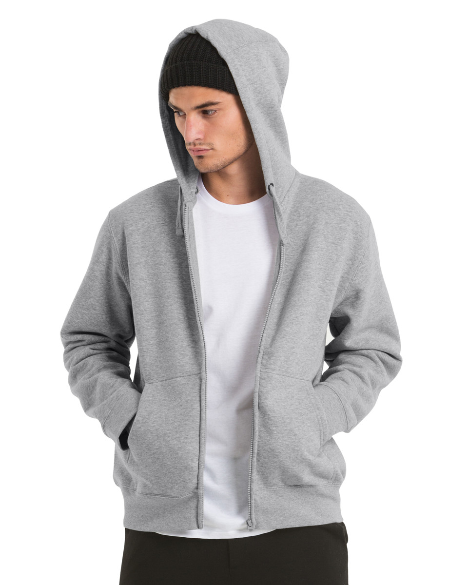 B and C Hooded Men's Full Zip Sweat